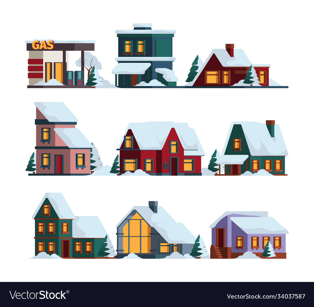 Snow cap house winter christmas architecture