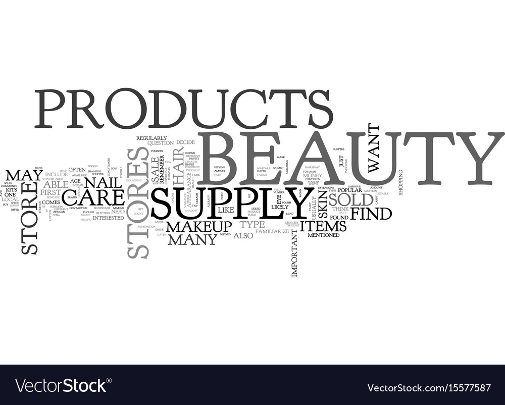What beauty products you may find in a beauty vector image