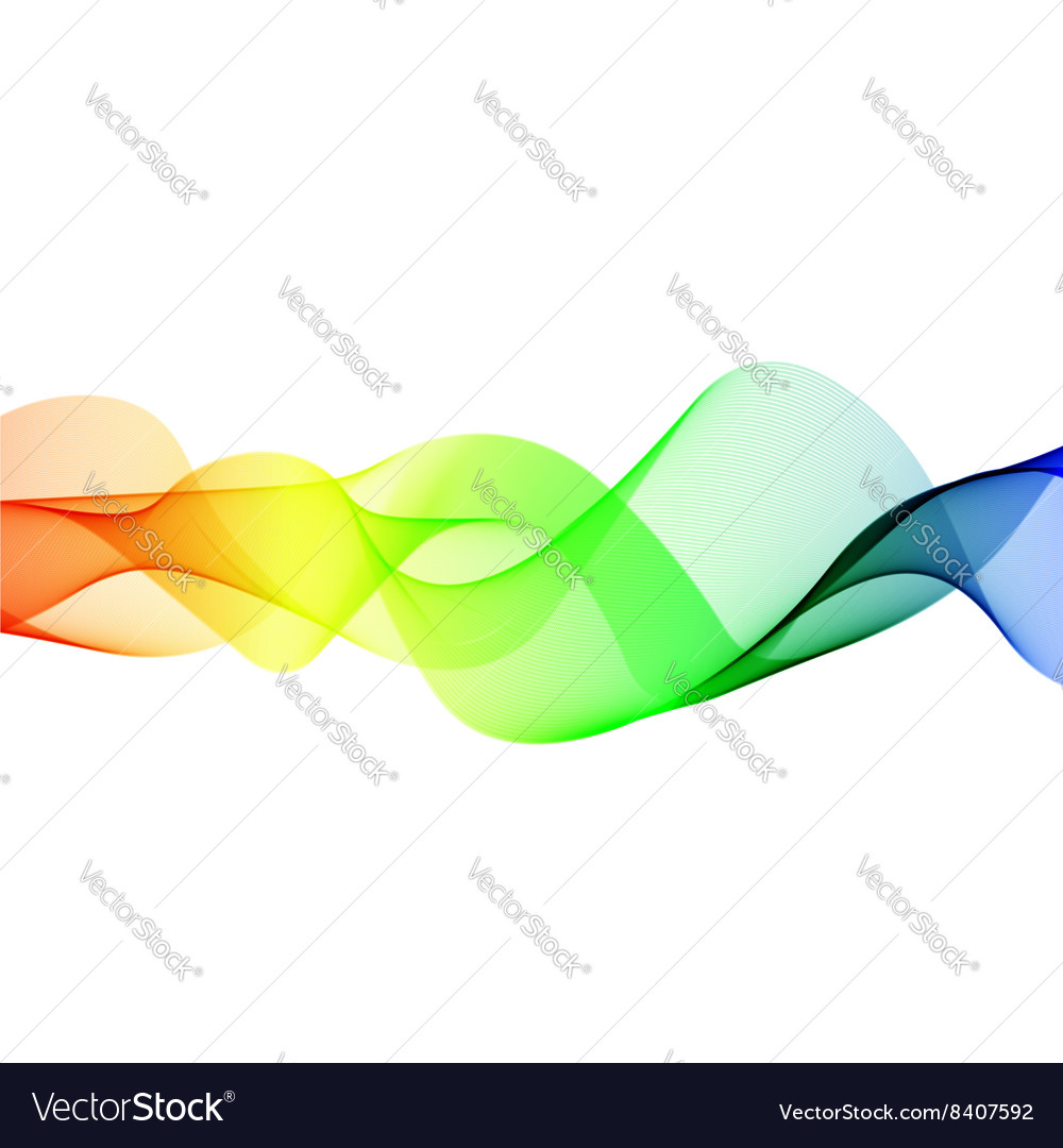 Abstract color wave element for design