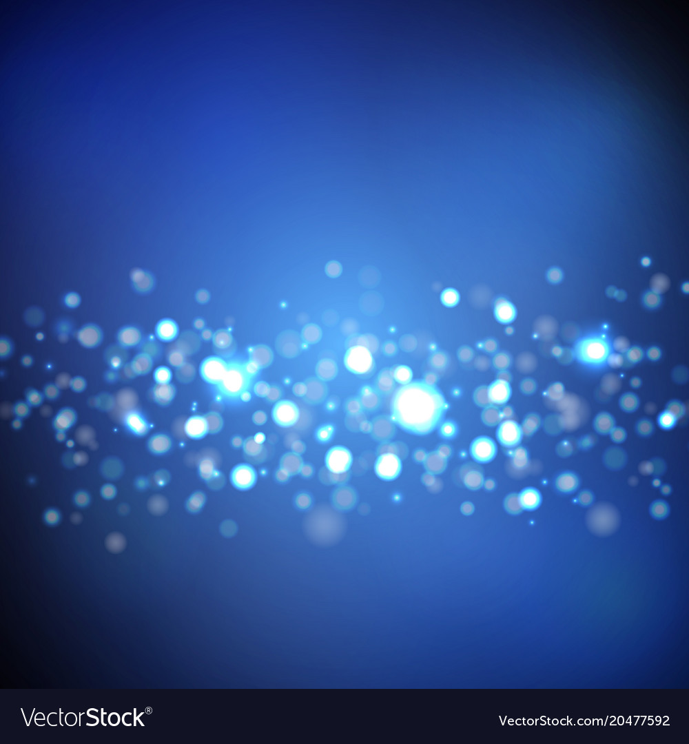 Dark Blue And Silver Bedroom Ideas: Dark Blue Background With Bokeh Lights Royalty Free Vector