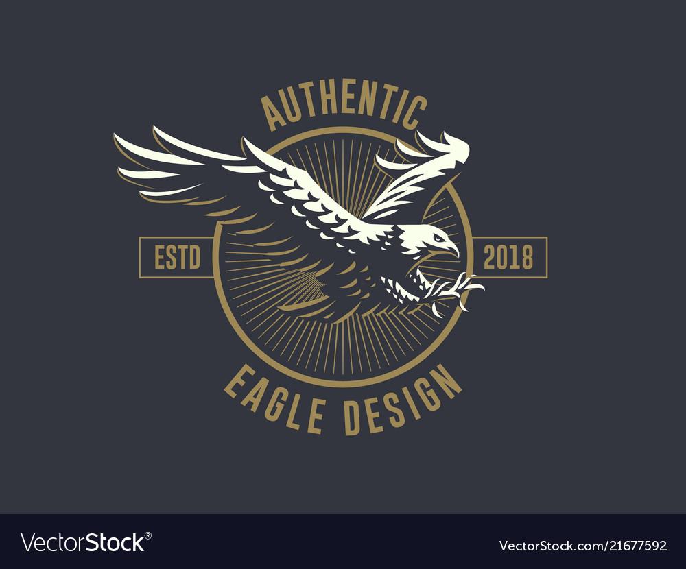 Flying eagle emblem