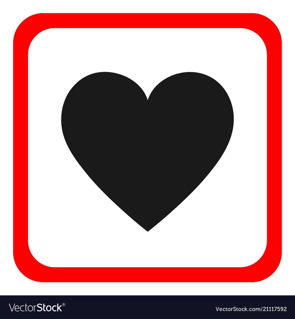 Heart icon round icon flat design