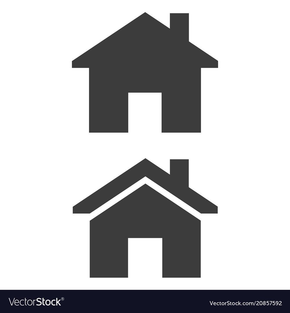 426920e57d16 Home icon on white background Royalty Free Vector Image