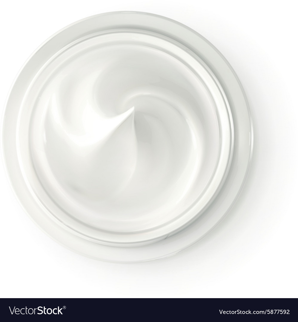 Hygienic cream top view vector image