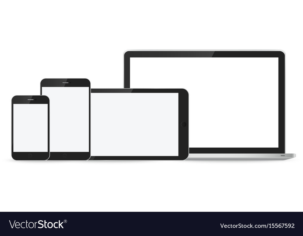 Laptop smartphone and tablet mockup
