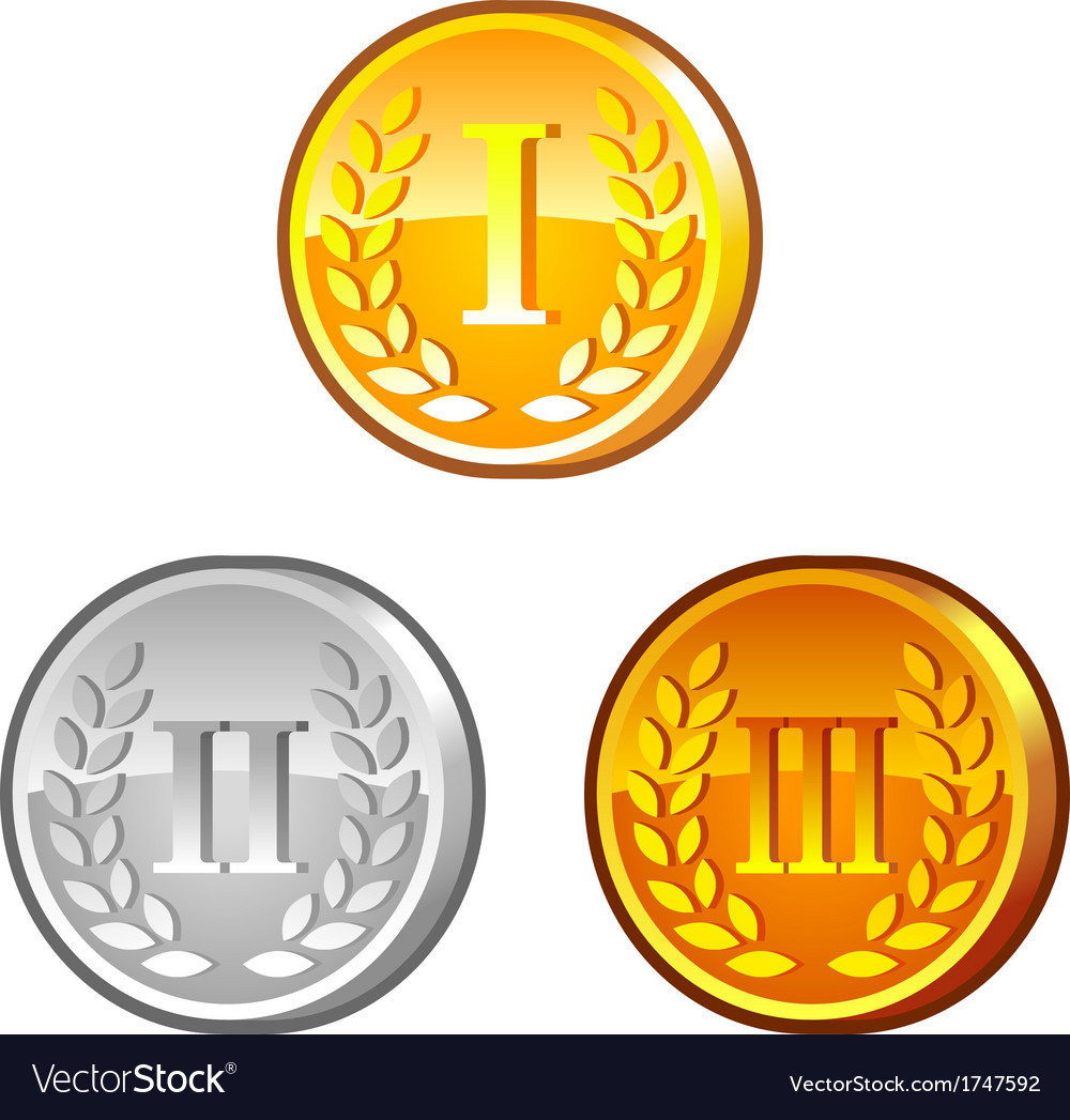 Medals with roman numerals