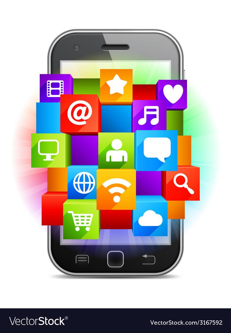 Mobile media vector image