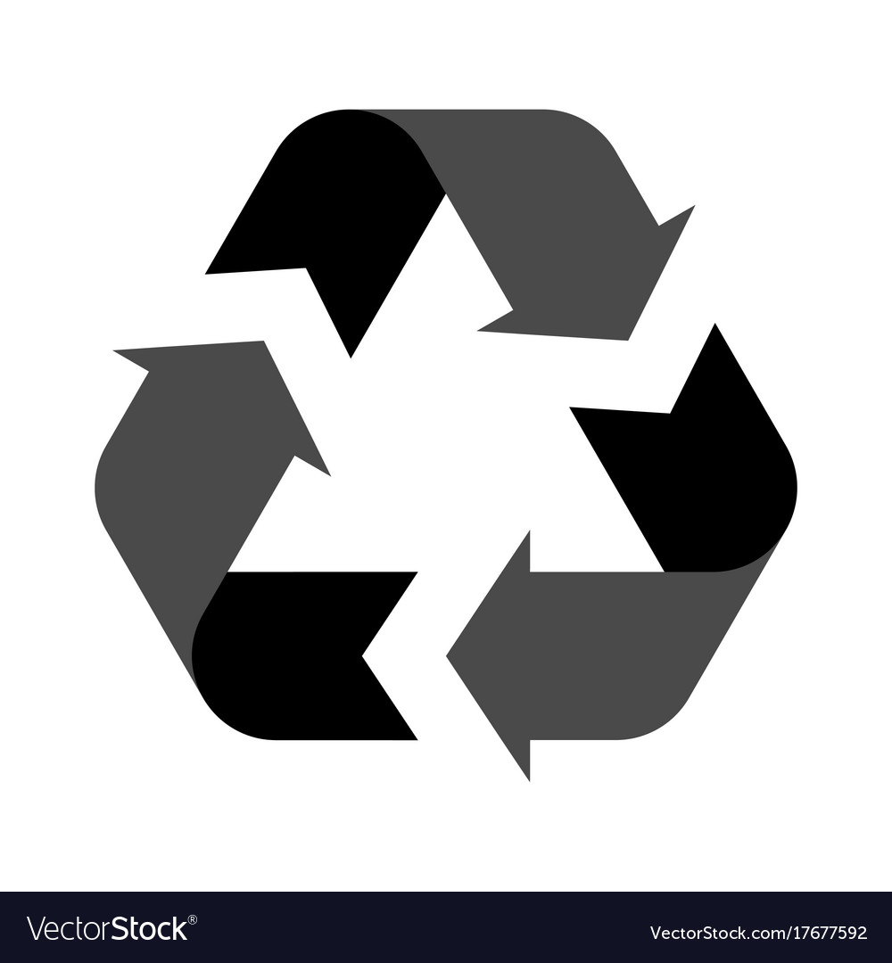 Recycle symbol isolated on a white background