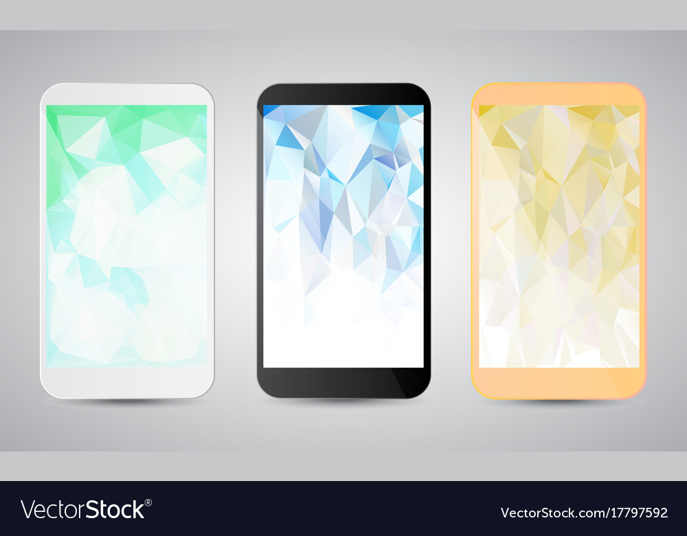 Set of modern gadgets with colorful backgrounds on vector image
