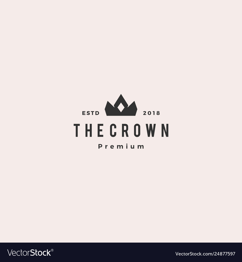 Crown king logo icon