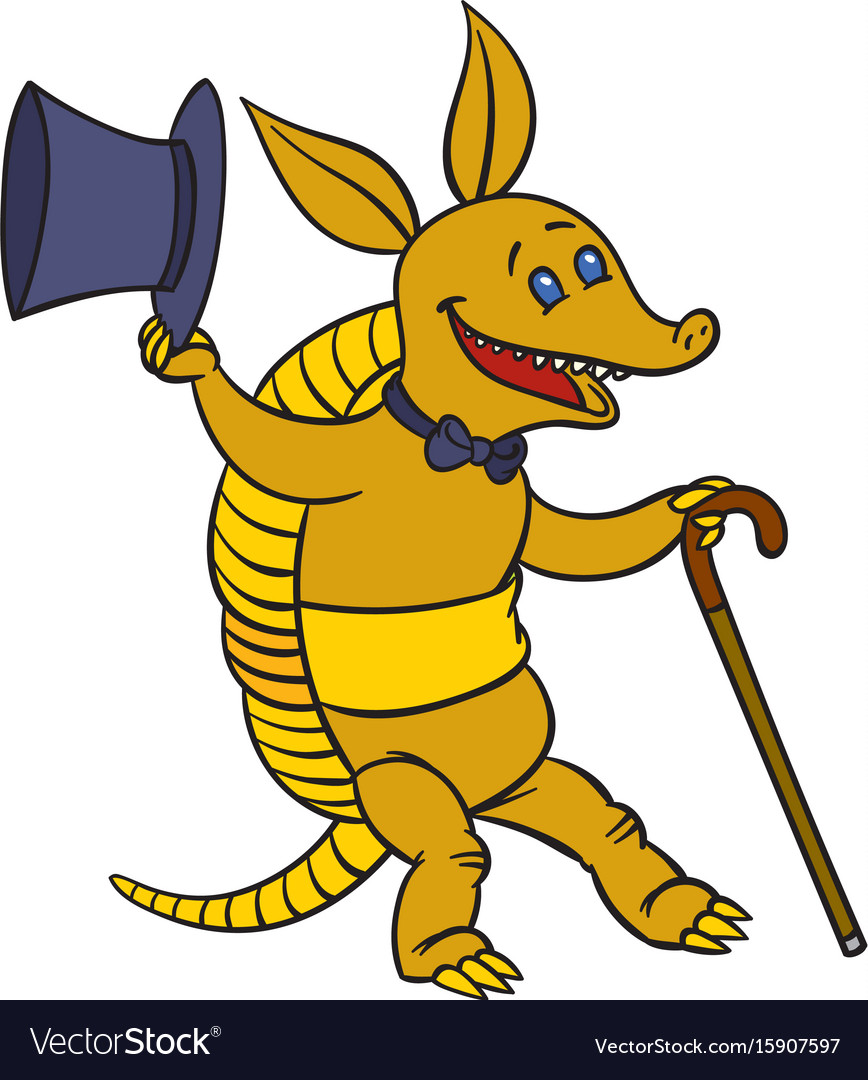 Dancing armadillo vector image