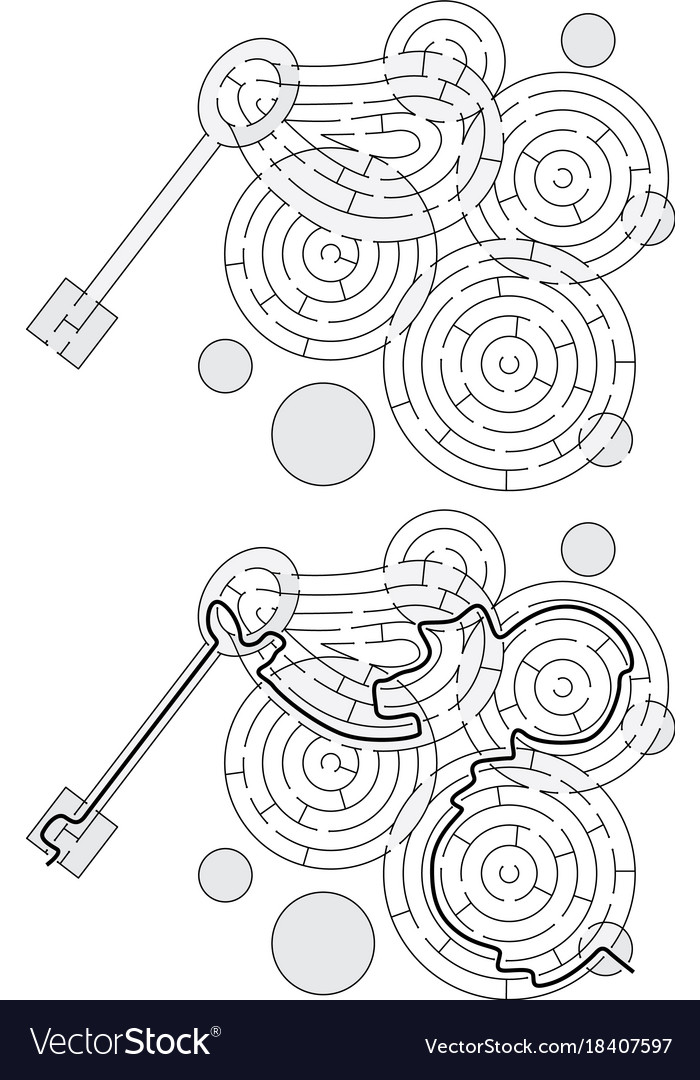 Easy Soap Bubbles Maze Royalty Free Vector Image