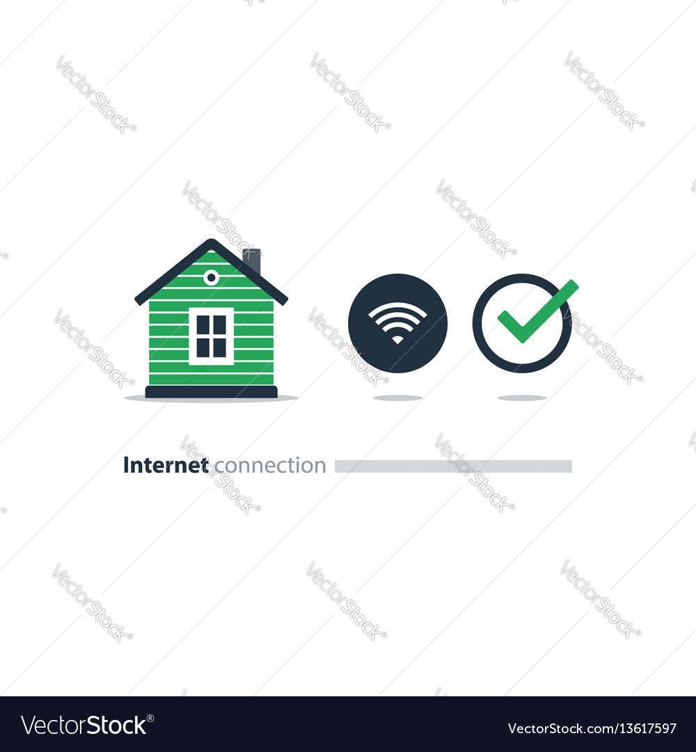 Internet access at home wi-fi icon smart solution