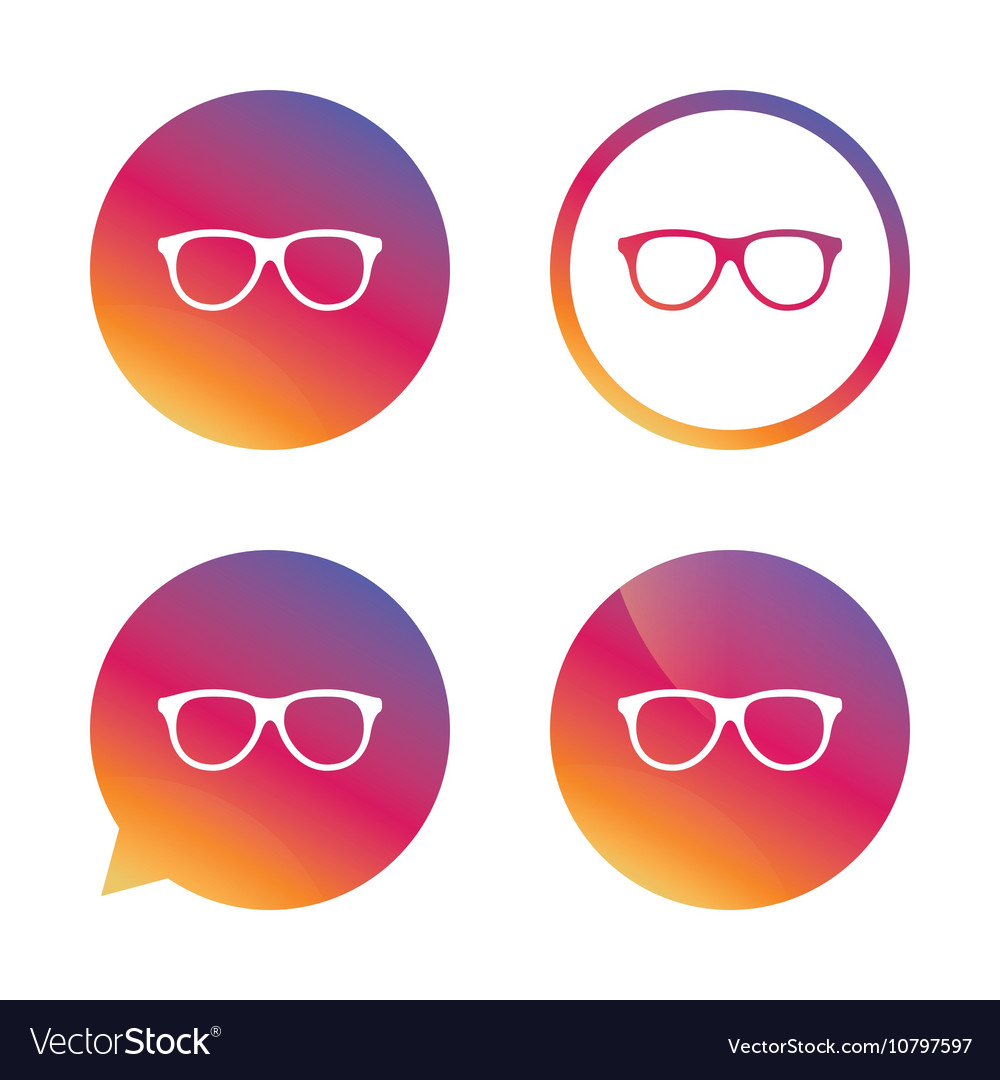 Retro glasses sign icon Eyeglass frame symbol vector image