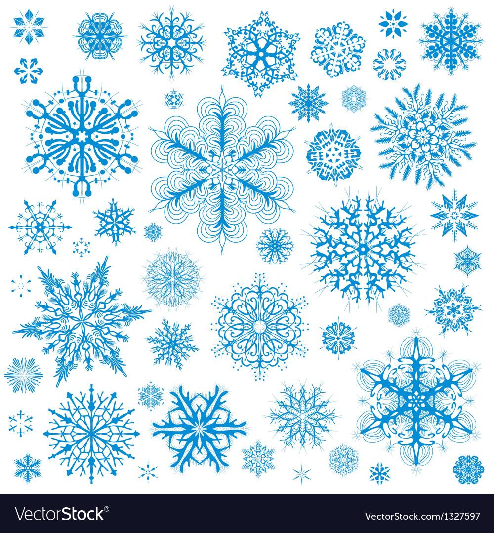 Snowflakes Christmas icons
