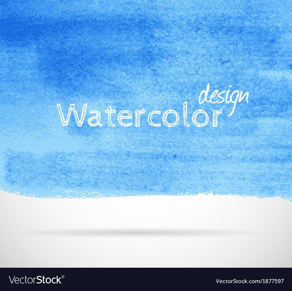 Watercolor set vector image