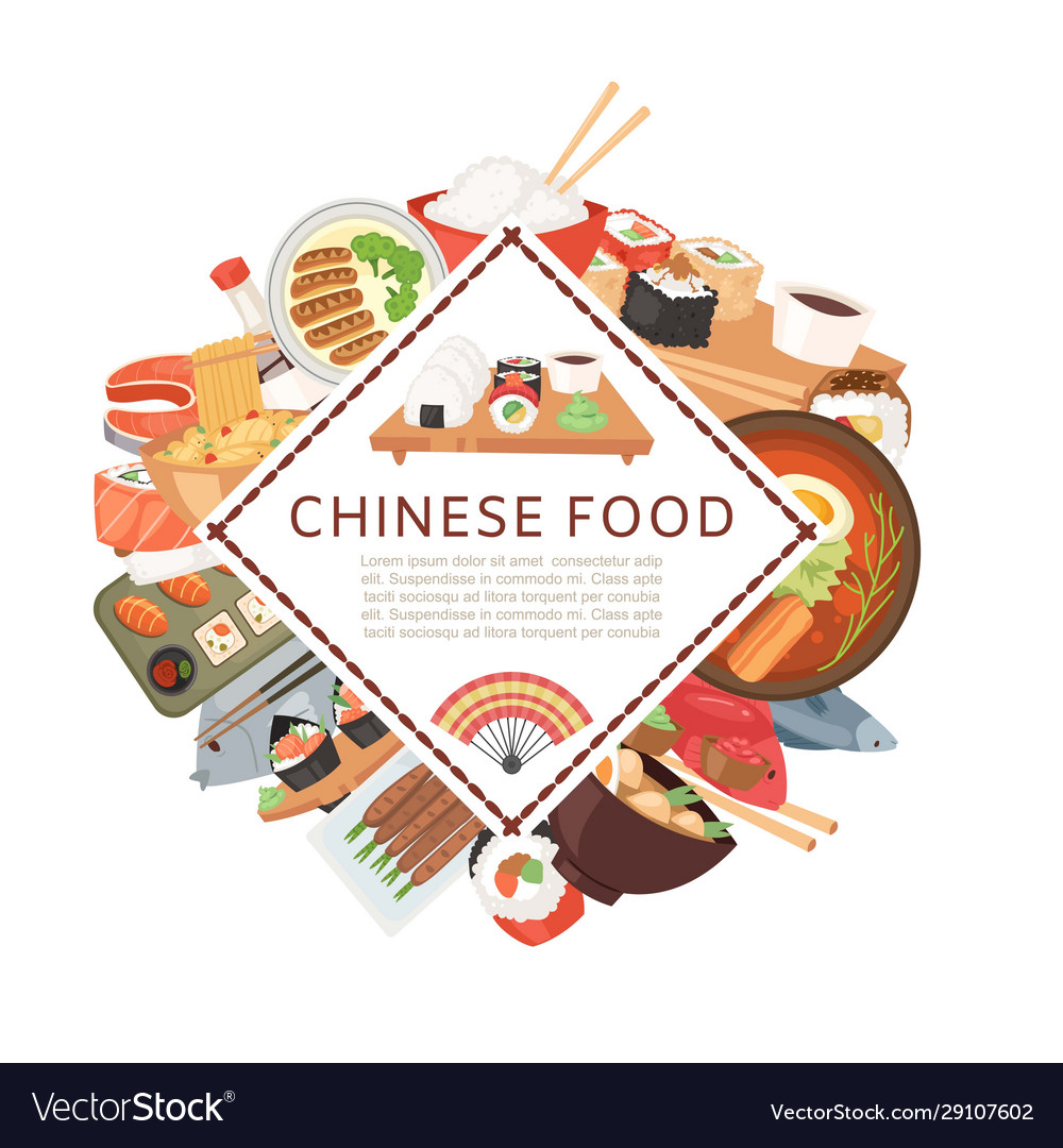Chinese asian food ethnic menu banner
