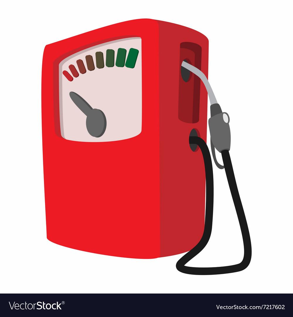 gas station cartoon icon royalty free vector image rh vectorstock com cartoon gas station drawing cartoon gas pump handle