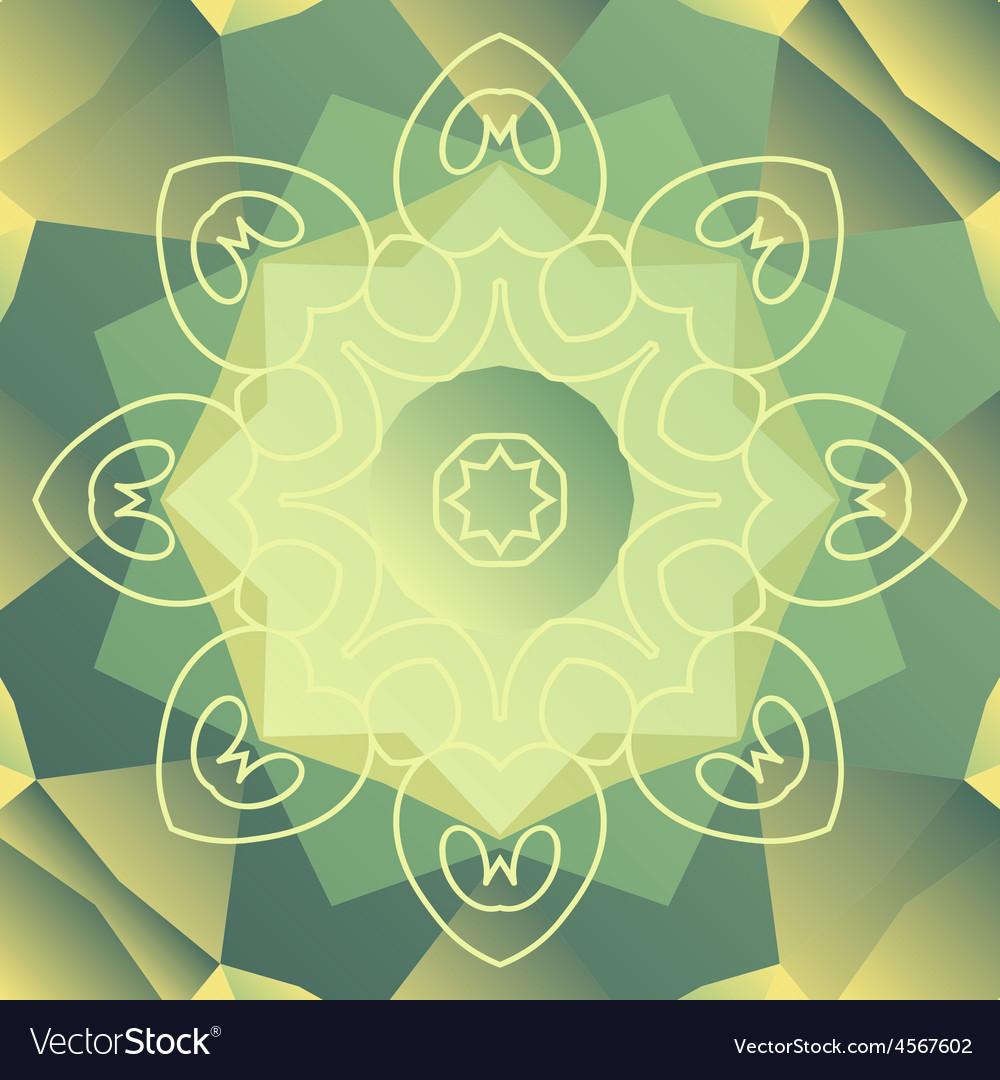 Green stylized oriental design card