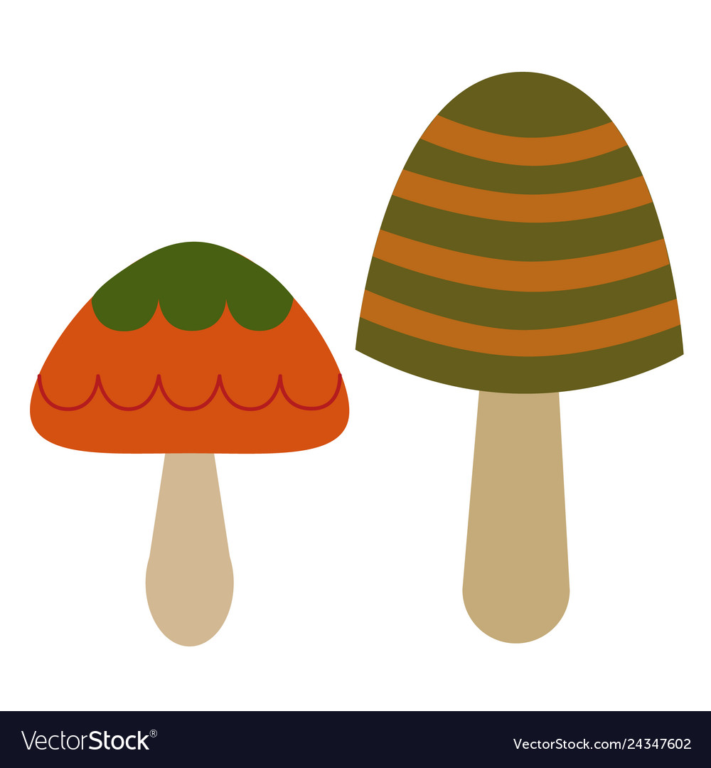 Mushroom Color Simple Royalty Free Vector Image