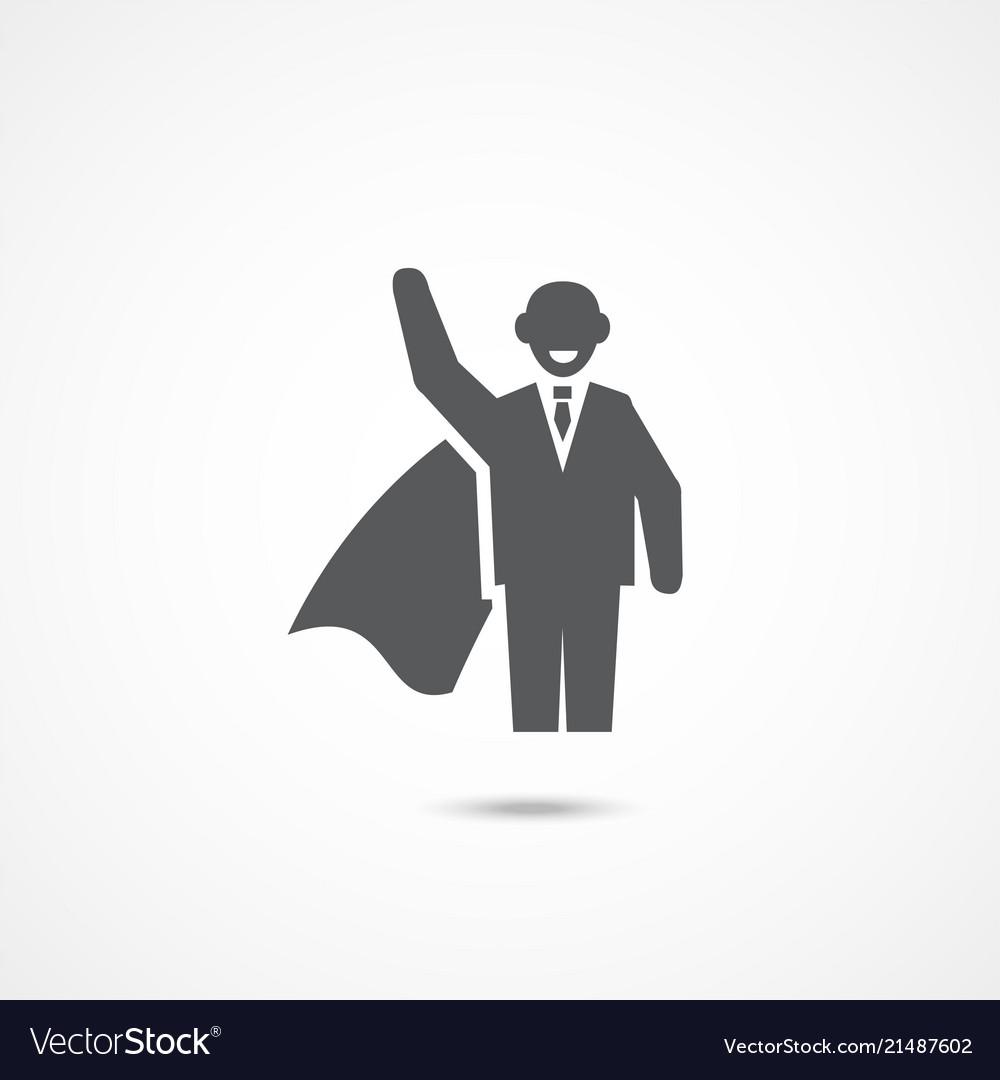 Superhero icon on white