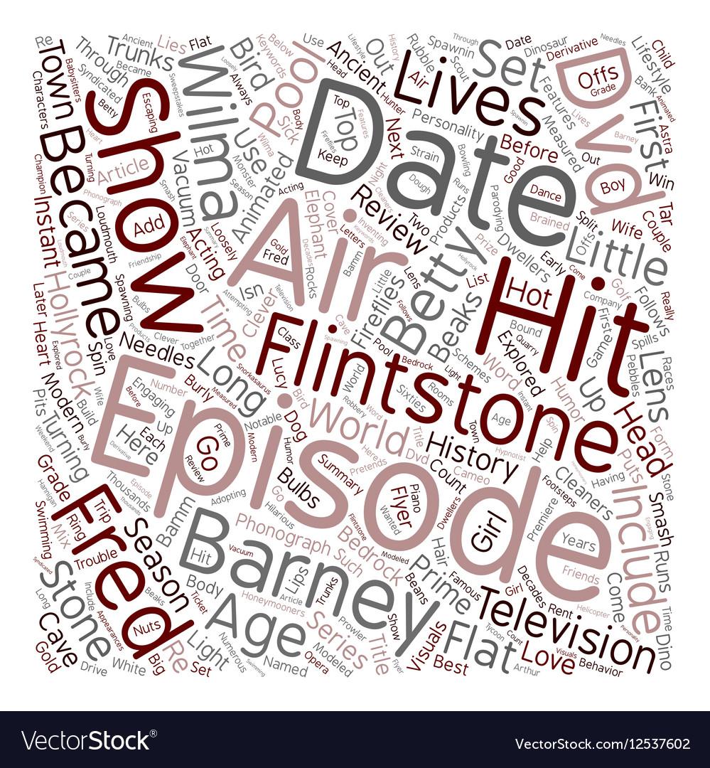 The Flintstones DVD Review text background vector image