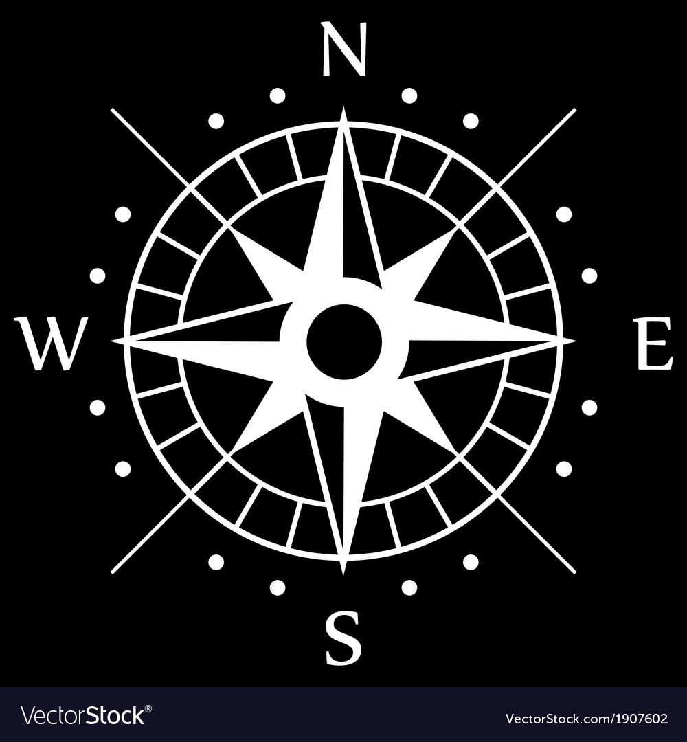 White Compass Symbol