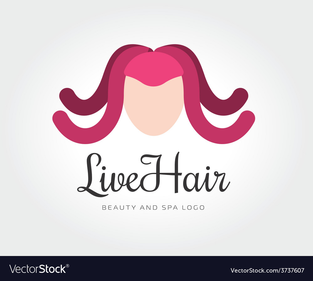abstract octopus hairstyle logo template for vector image