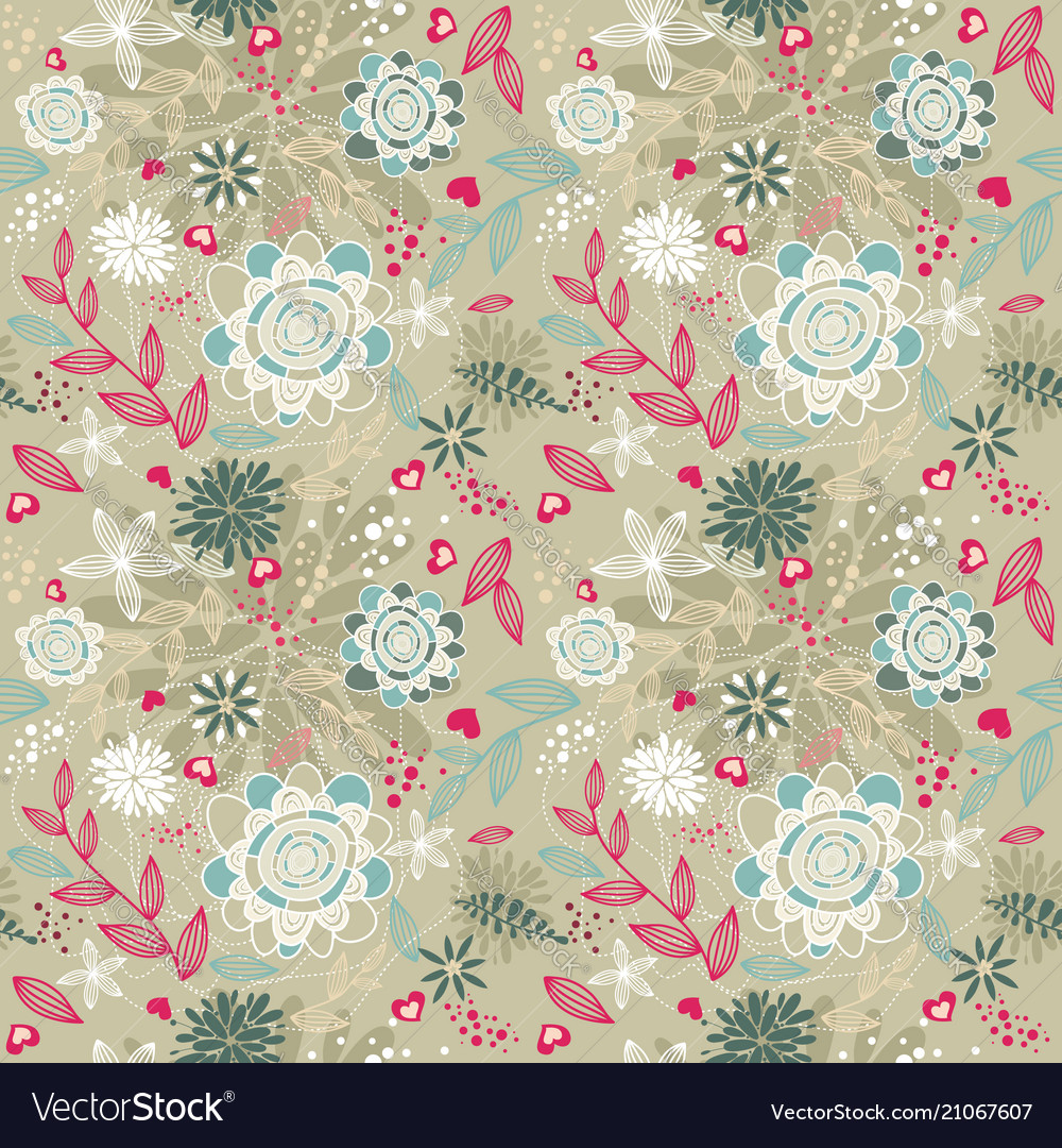 Beauty floral patterns background on brown color