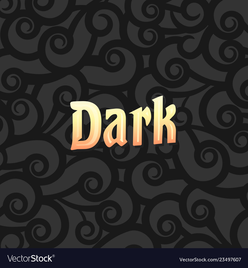 Black background with demonstration of gold light