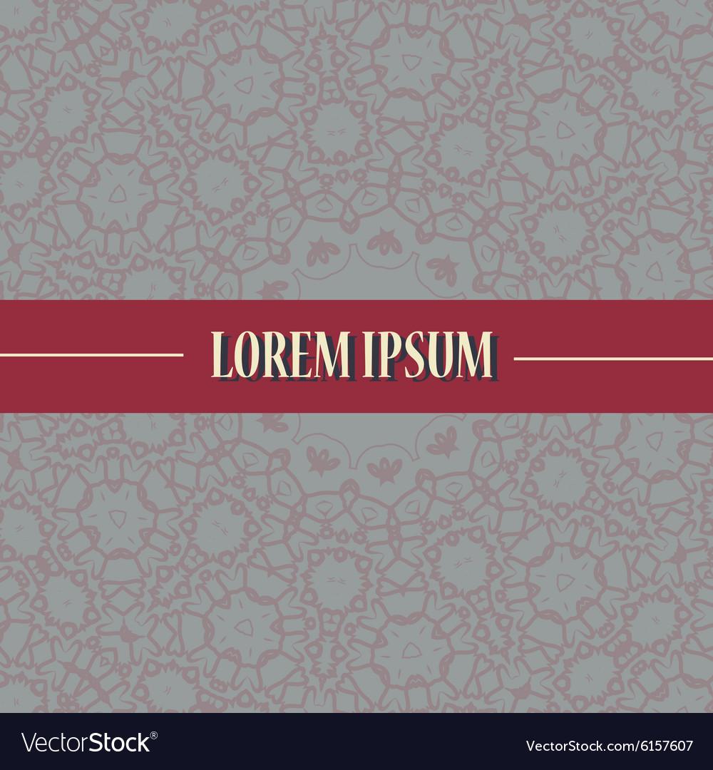 Cover Print with ornamental mandala design vector image
