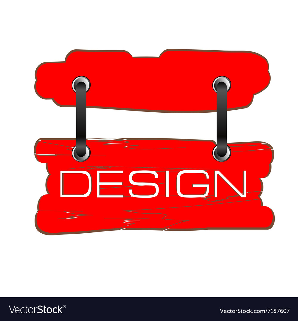 Design signboard in red