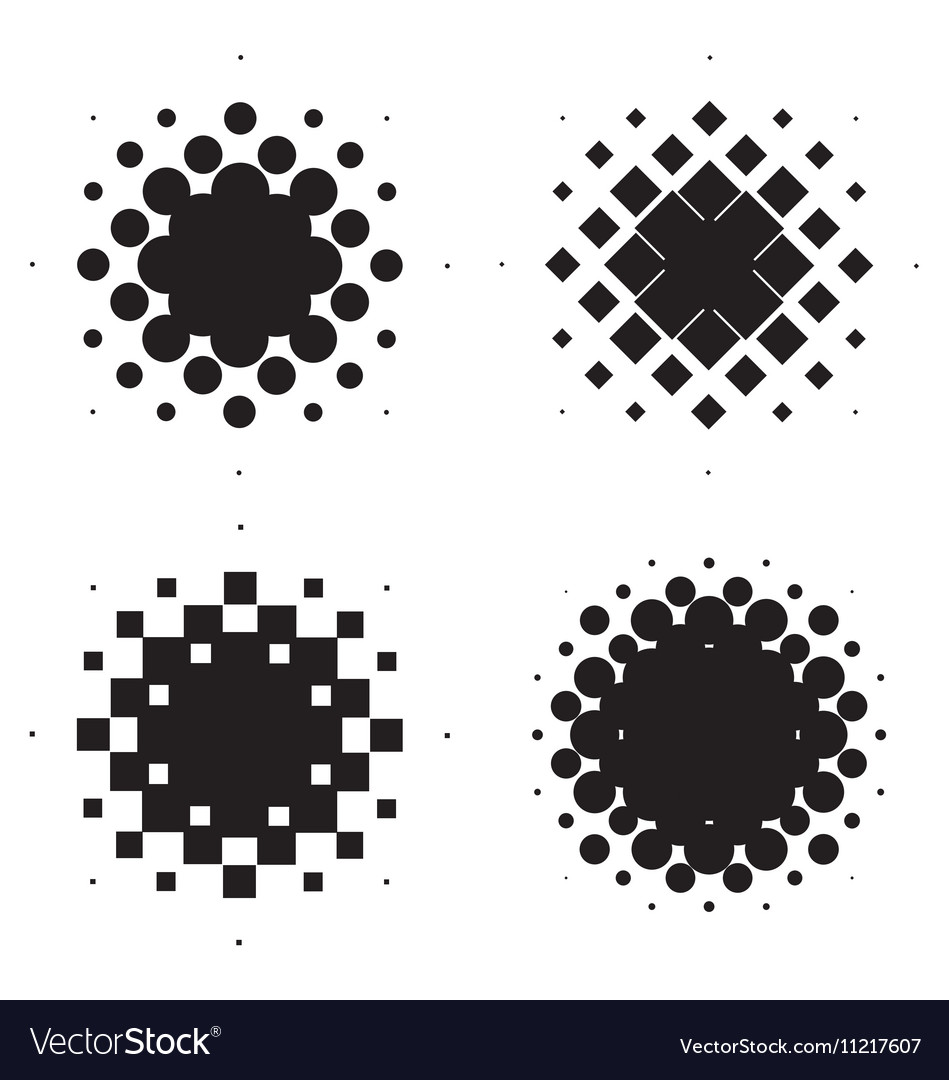 Halftone circles