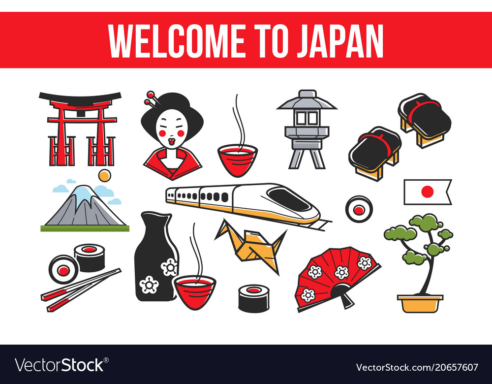 Welcome to japan promo banner with national