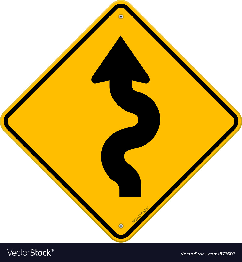 Winding Road Sign vector image