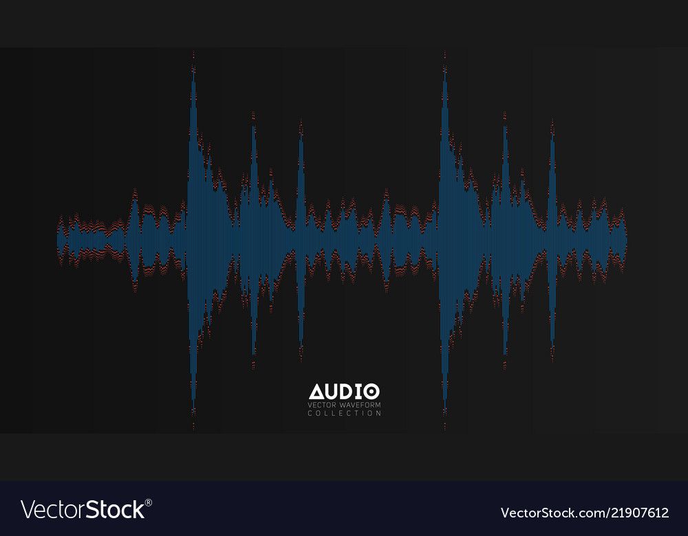 Audio wavefrom abstract music waves