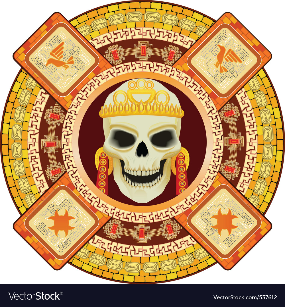 Aztec God Of Death Royalty Free Vector Image Vectorstock