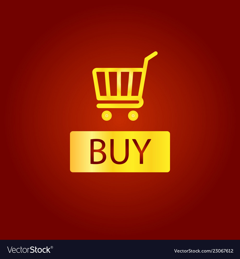 Buy sign icon online buying cart button golden