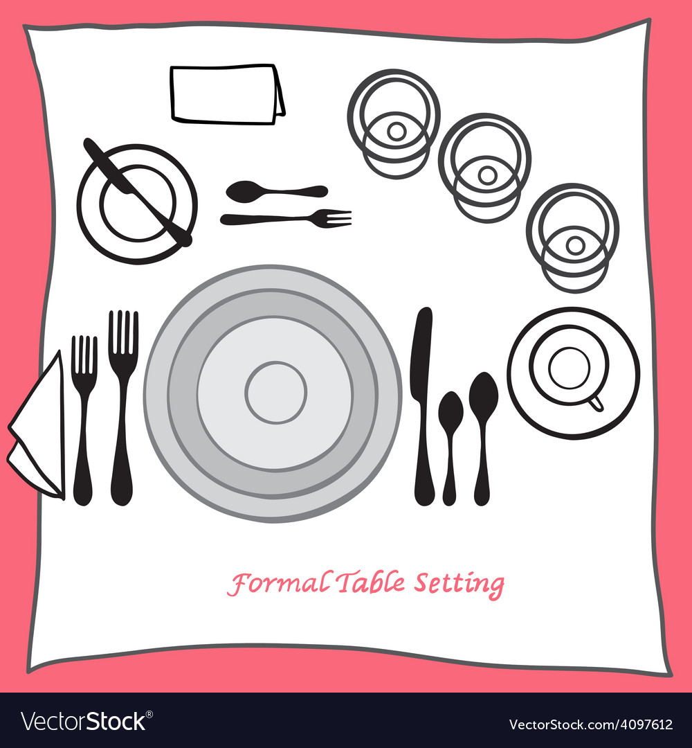 Dining table setting proper arrangement of