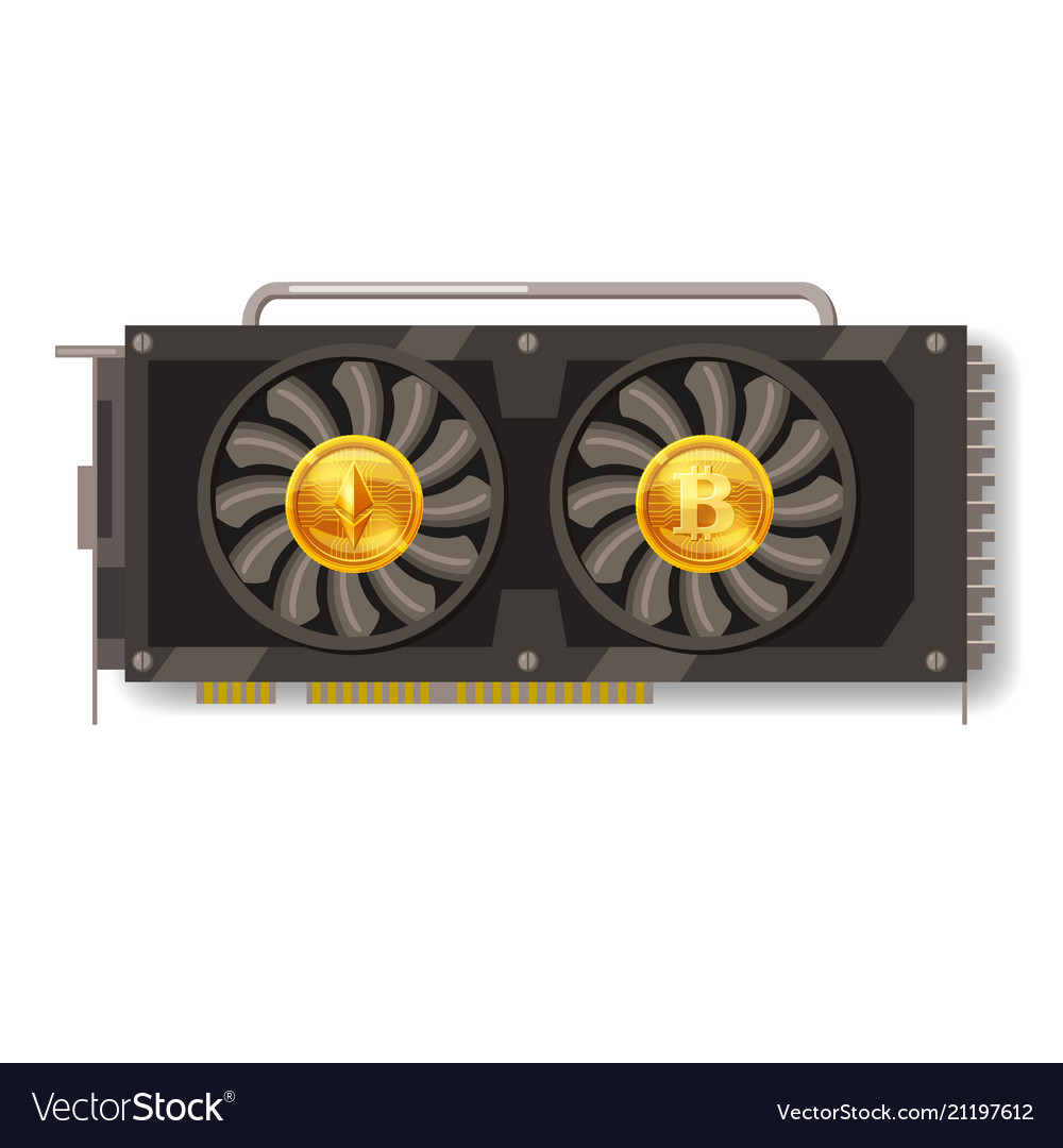 Gpu videocard for mining isolated icon blockchain