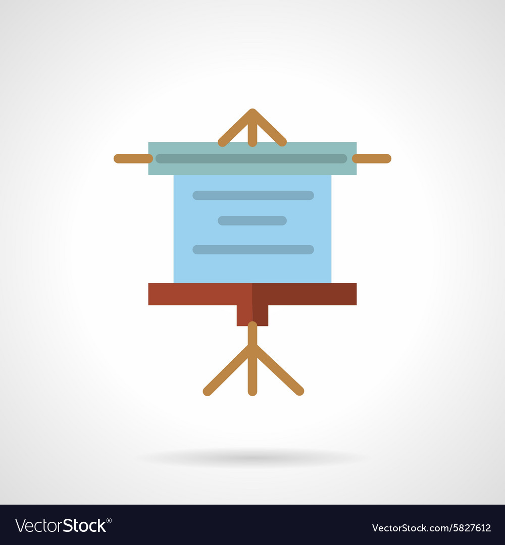 Projector screen flat icon vector image