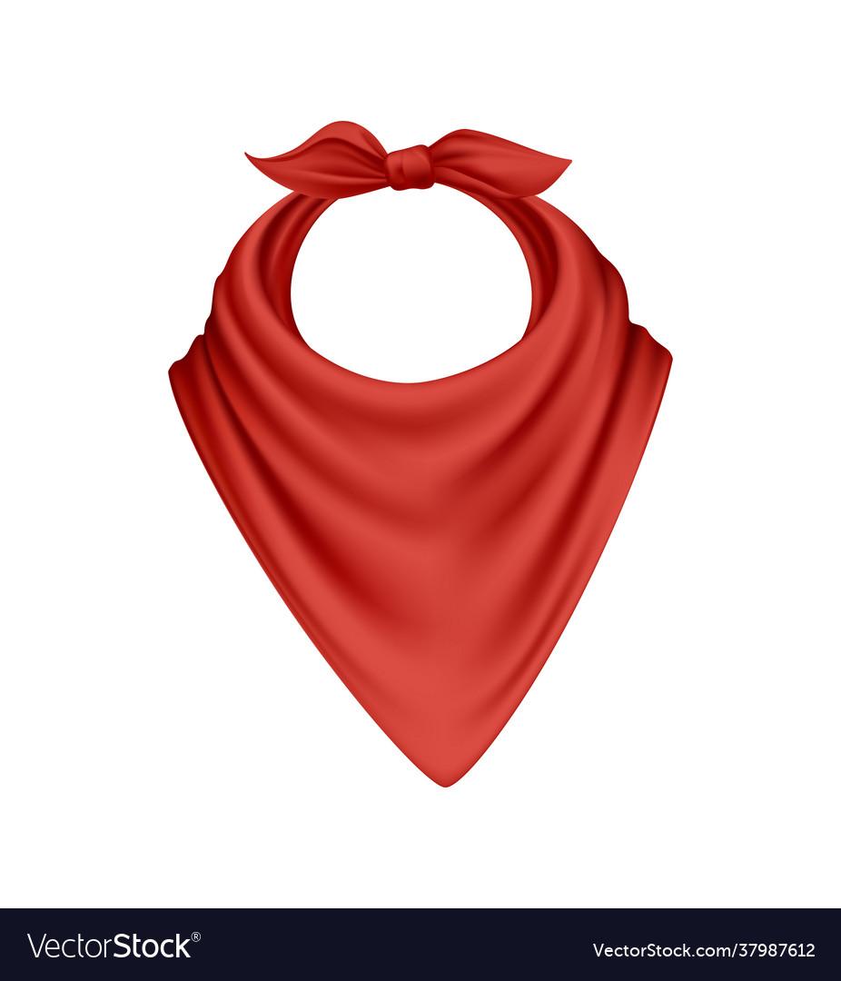 Realistic bandana scarf