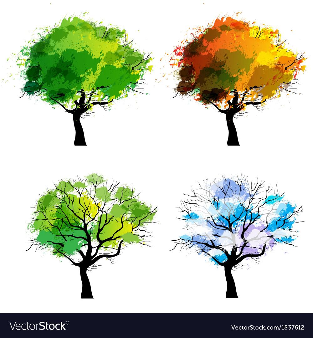 Trees four seasons