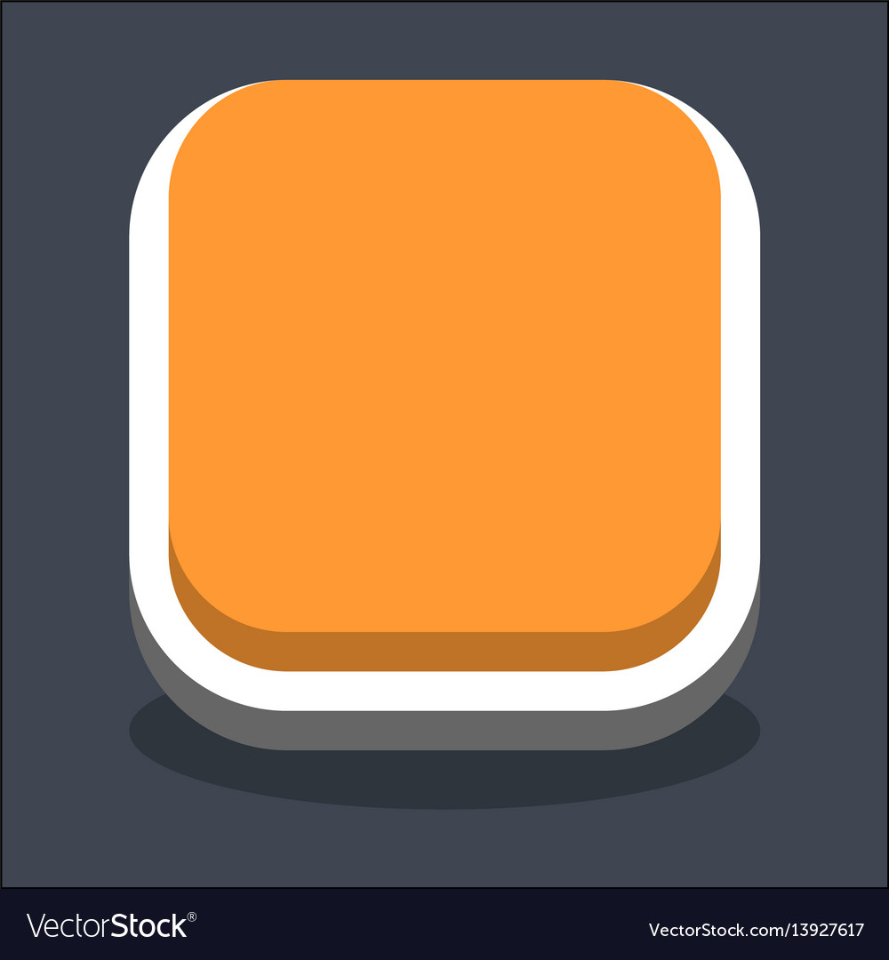 3d flat blank square web internet button vector image