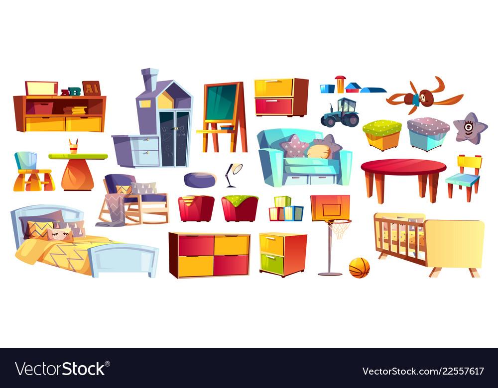 Big set of kids furniture and toys
