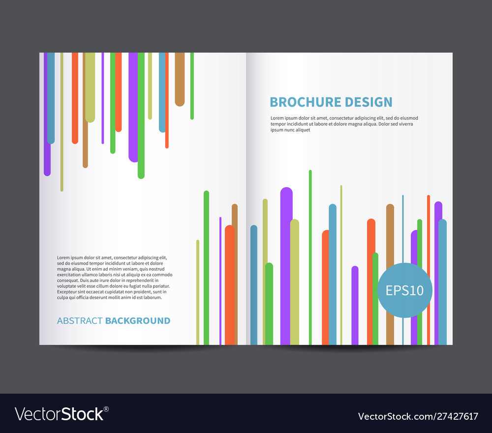 Brochure or magazine cover design template
