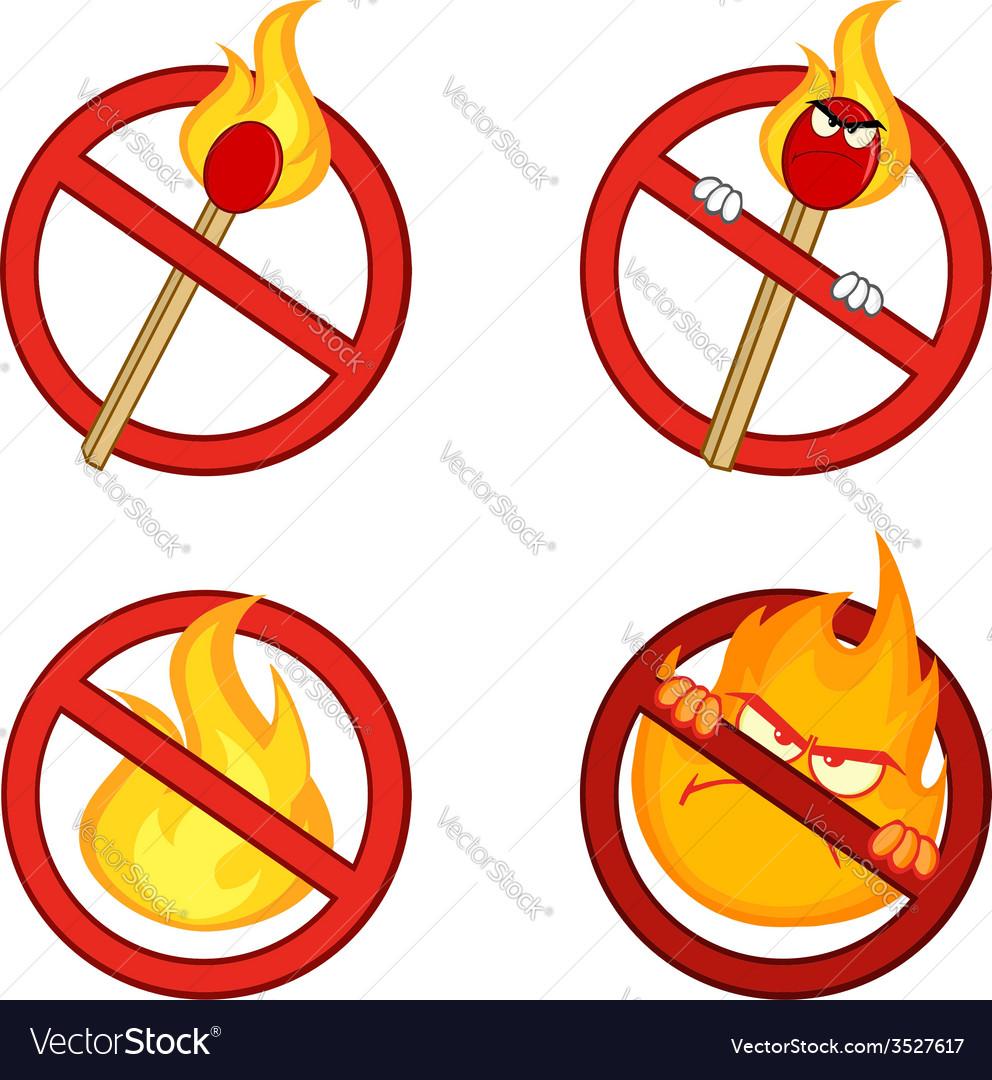 Cartoon flame and fire design