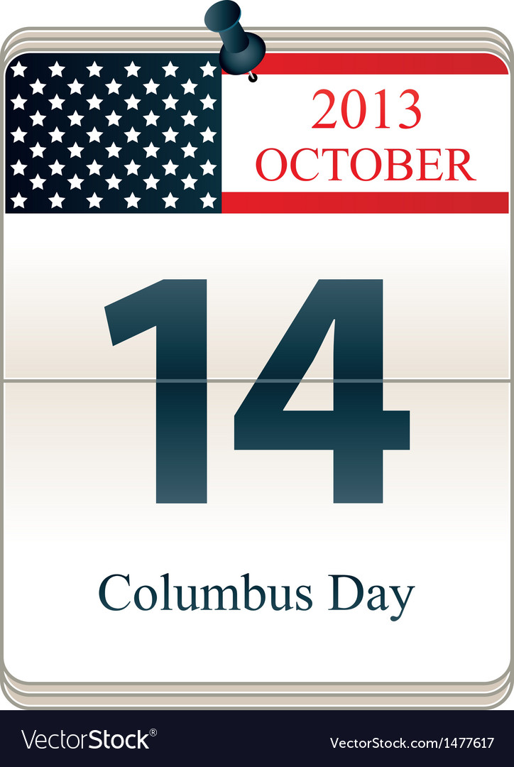 Columbus Day 2013 vector image