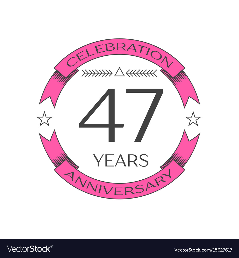 Forty seven years anniversary celebration logo