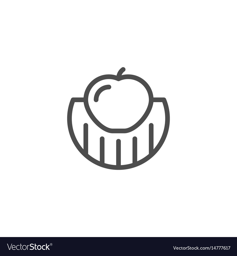 Fruit and vegetable growing line icon
